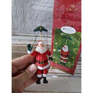 Hallmark Santa Claus Marionette 2001 ornament Xmas